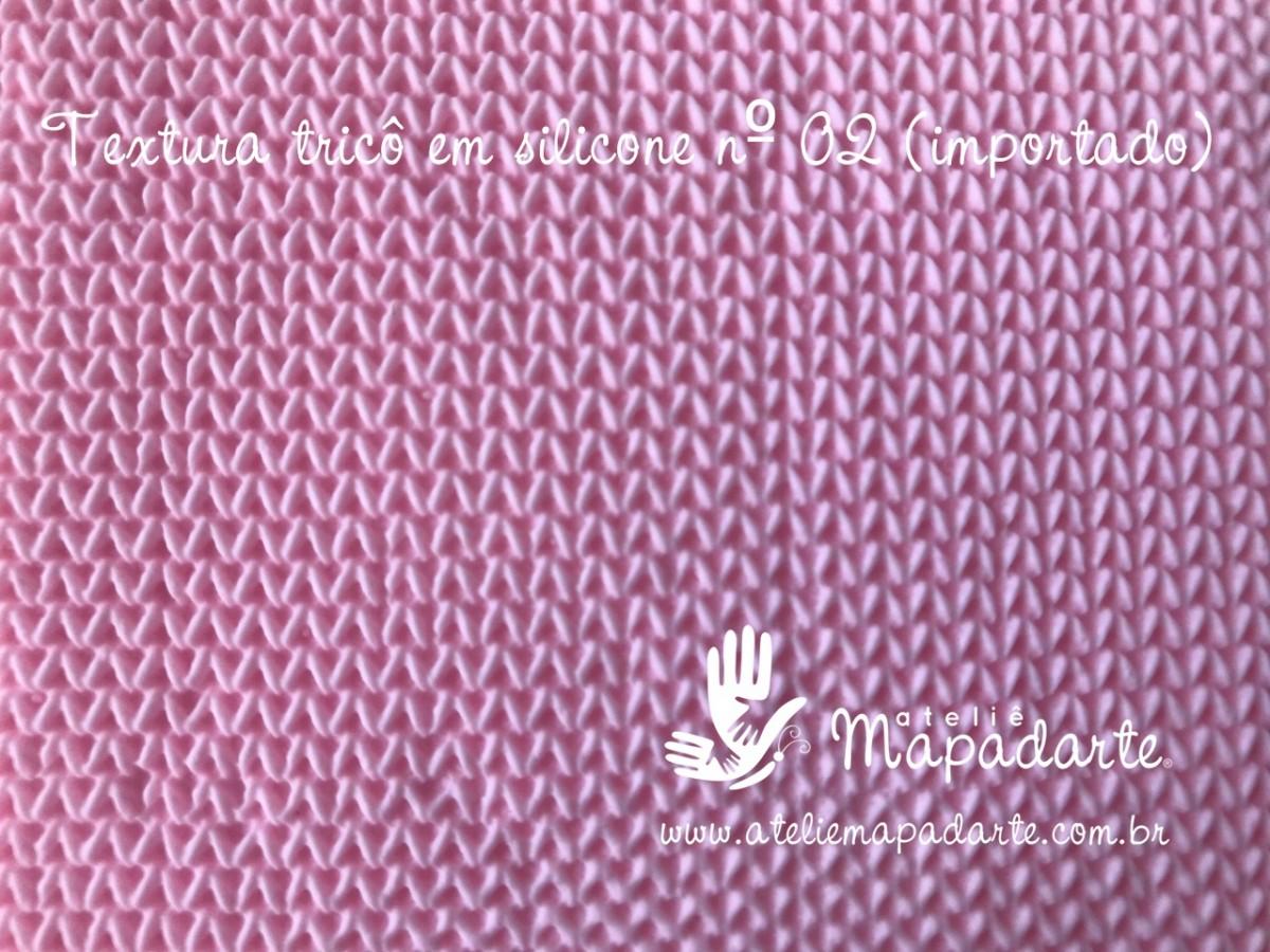 Foto 1 - Cód M2762 Textura tricô em silicone 10x10cm (Importado)