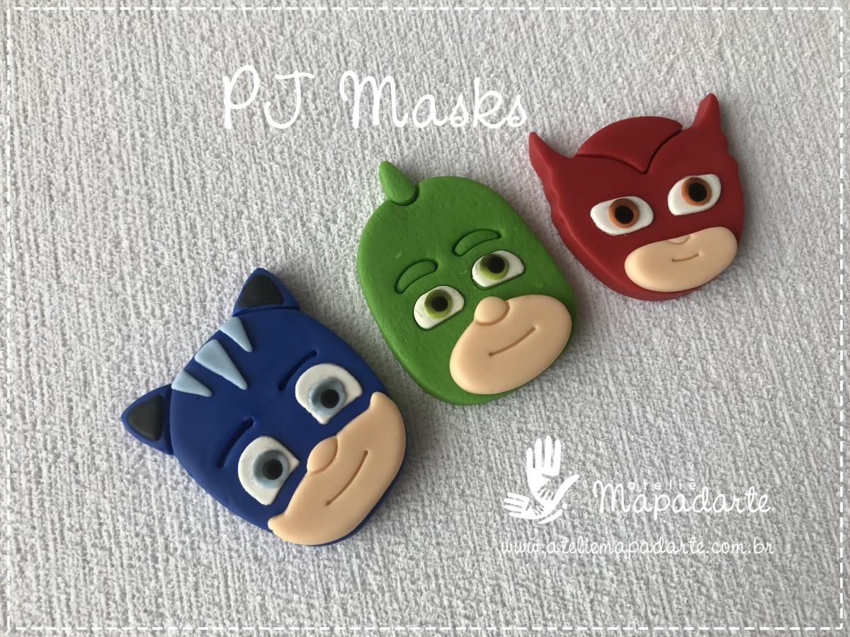 Foto3 - Cód M2768 Lagartixo PJ Masks em plástico PLA ref. 263-6 06peças (AC)