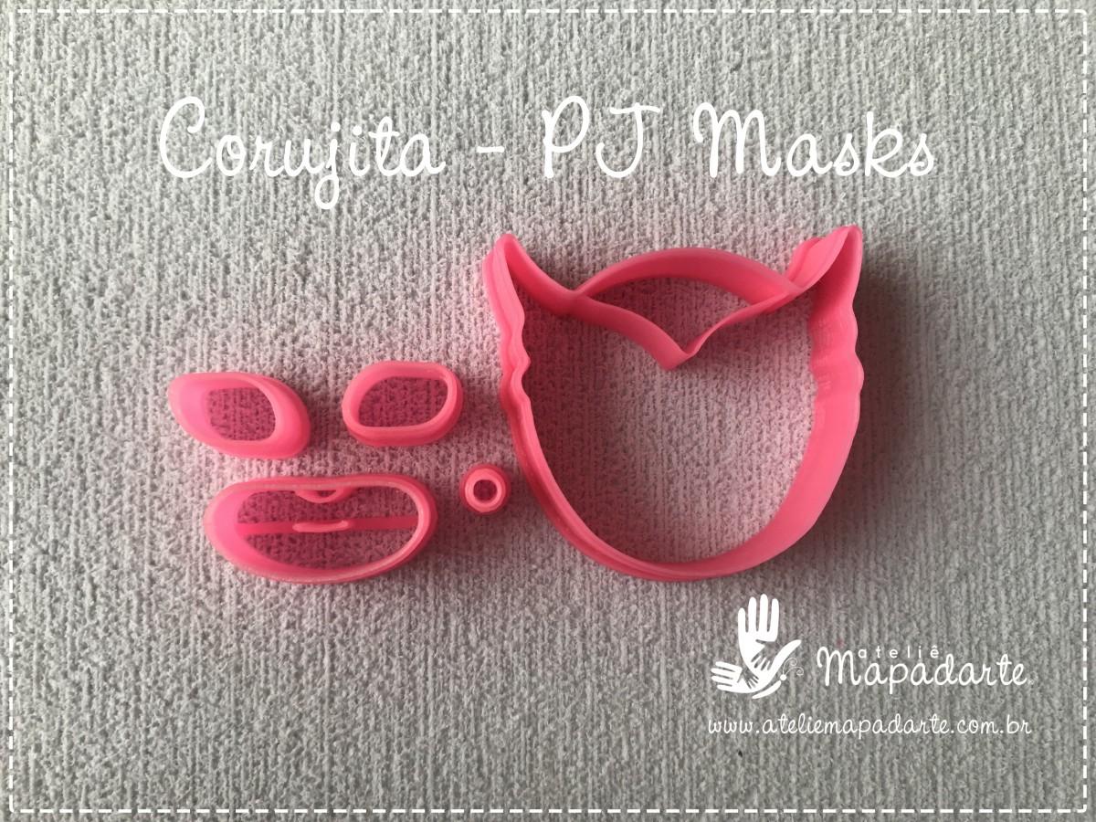 Foto2 - Cód M2769 Corujita PJ Masks em plástico PLA ref. 262-5 06peças (AC)