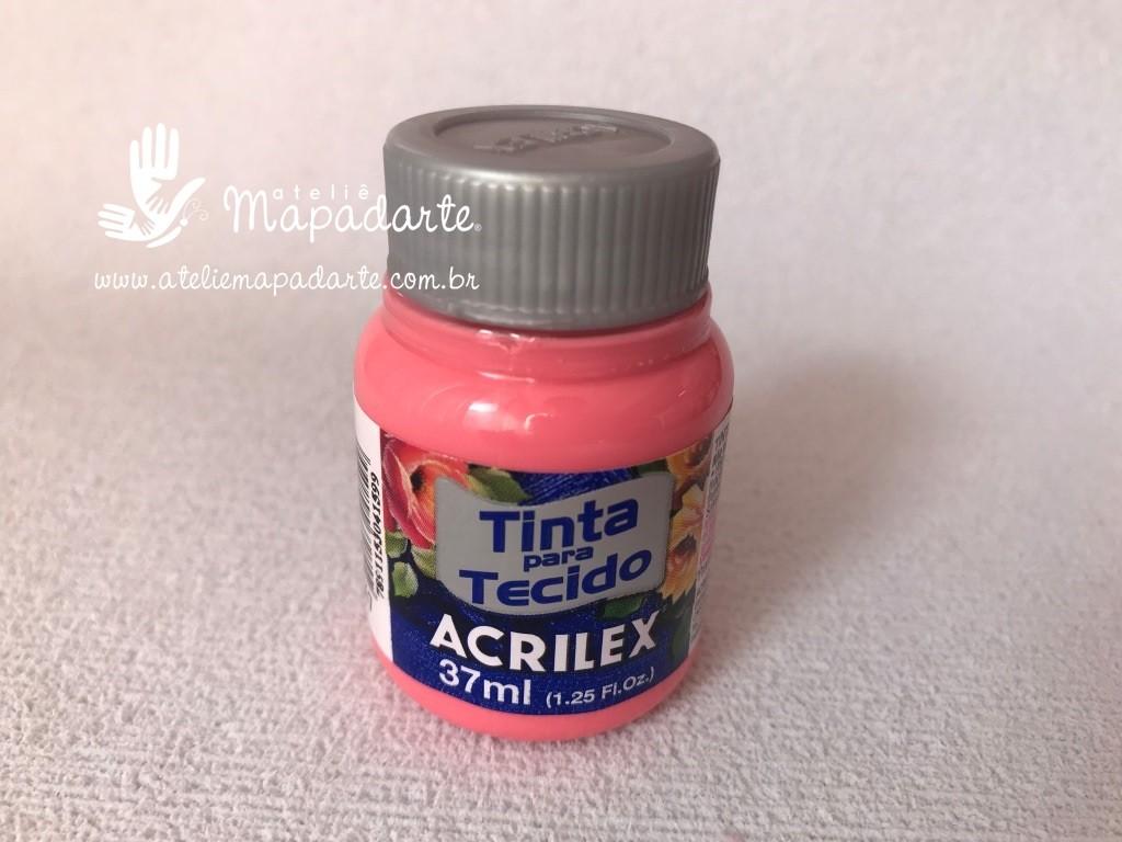 Foto 1 - Cód M2851 Tinta de tecido rosa chá 37 ml (567)01 un