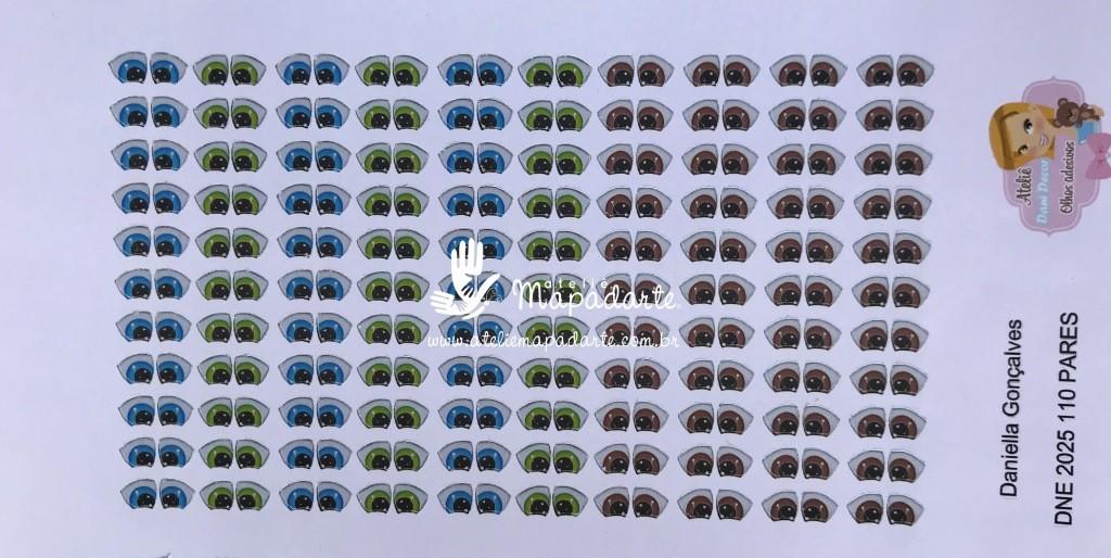 Foto 1 - Cód M584 Olho adesivo DNE 2025 110 pares