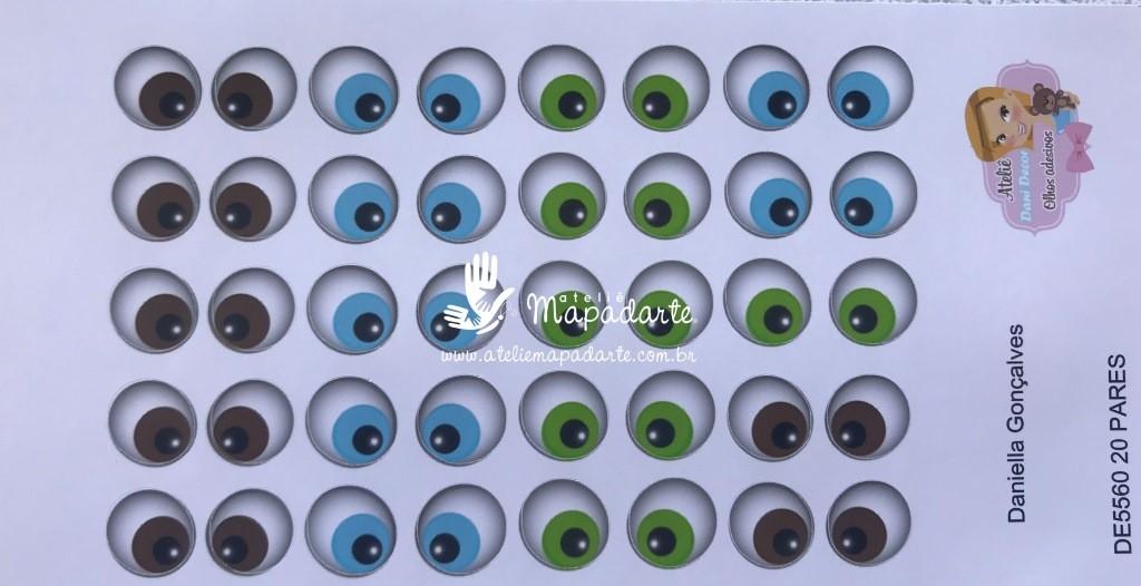 Foto 1 - Cód M2791 Olho adesivo DE 5560 20pares