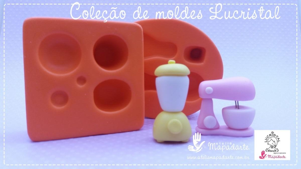 Foto2 - LC05 Molde de silicone liquidificadorcoleção vintage 05peças para montar (LUCRISTAL)