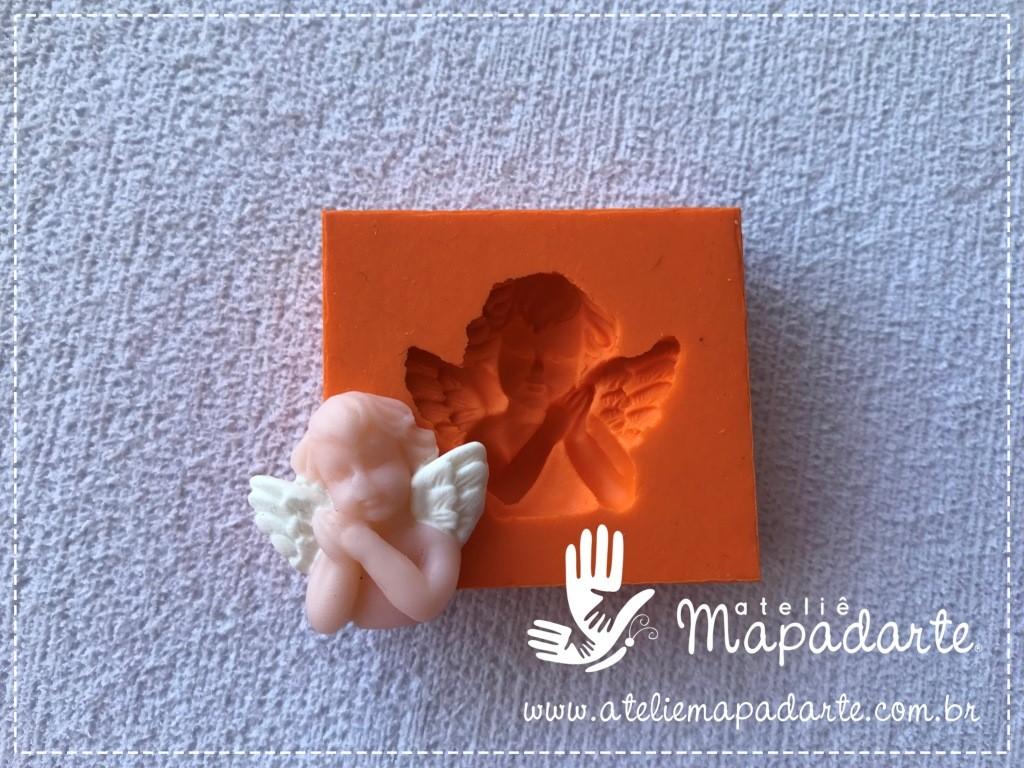 Foto 1 - Cód 781 Molde de silicone anjo