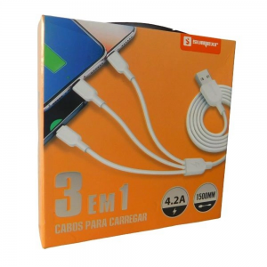 Foto1 - Cabo USB 3 em 1 Sumexr SX-B35