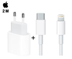 Foto1 - Carregador Completo iPhone 11 Pro Max Xr Xs Usb-c iPad Pro Apple 18w