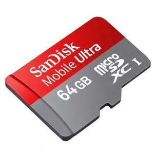 Foto2 - Cartão de Memória Micro SD Sandisk 64GB