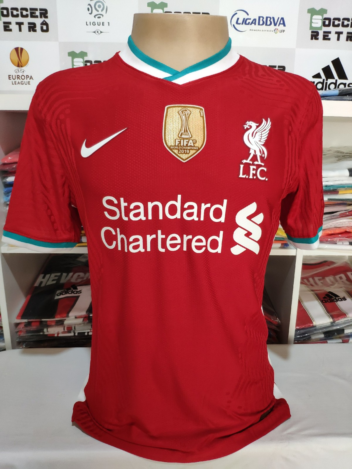 Camisa Liverpool 2020 21 Champions League Soccer Retro