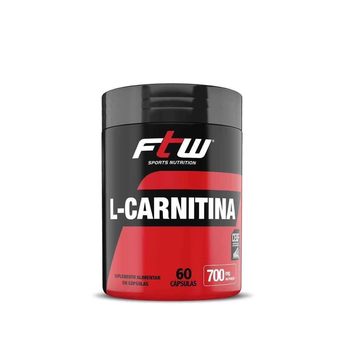 Imagem do produto L-CARNITINA FTW 350mg - 60 CÁPS