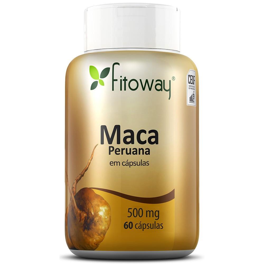 Imagem do produto MACA PERUANA FITOWAY 500mg - 60 CÁPSULAS