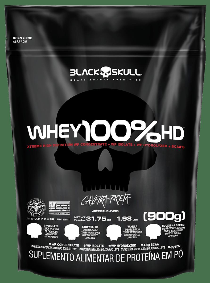 Imagem do produto WHEY 100% HD REFIL BLACK SKULL - 900G (WPC, WPI E WPH)