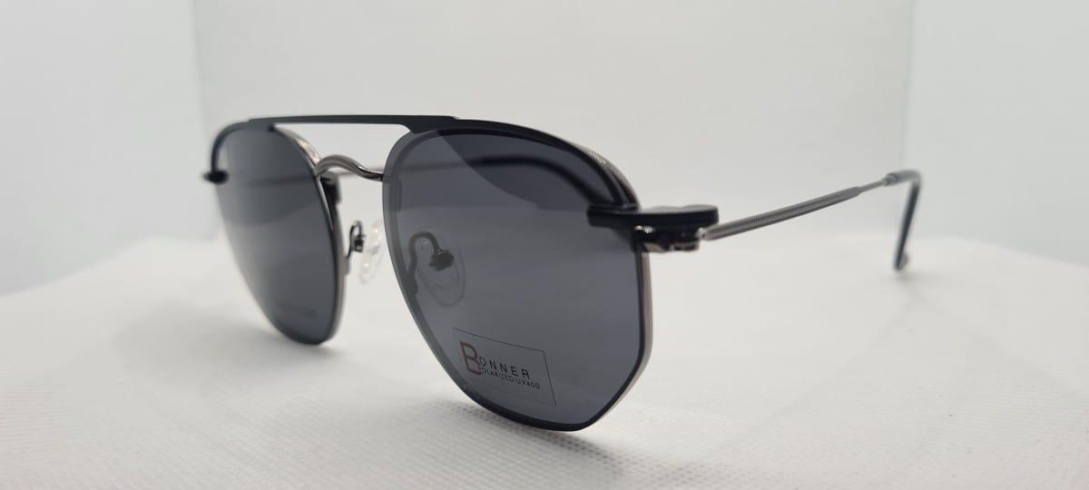 Foto5 - Óculos Armação Clipon Preto Ferrette - COD. 1220