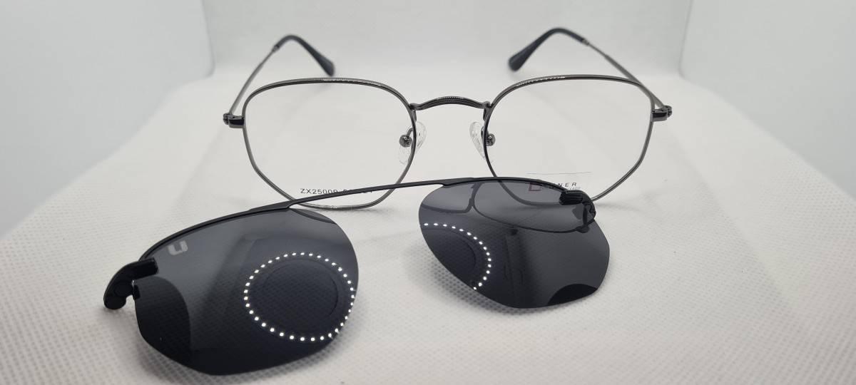 Foto 1 - Óculos Armação Clipon Preto Ferrette - COD. 1220