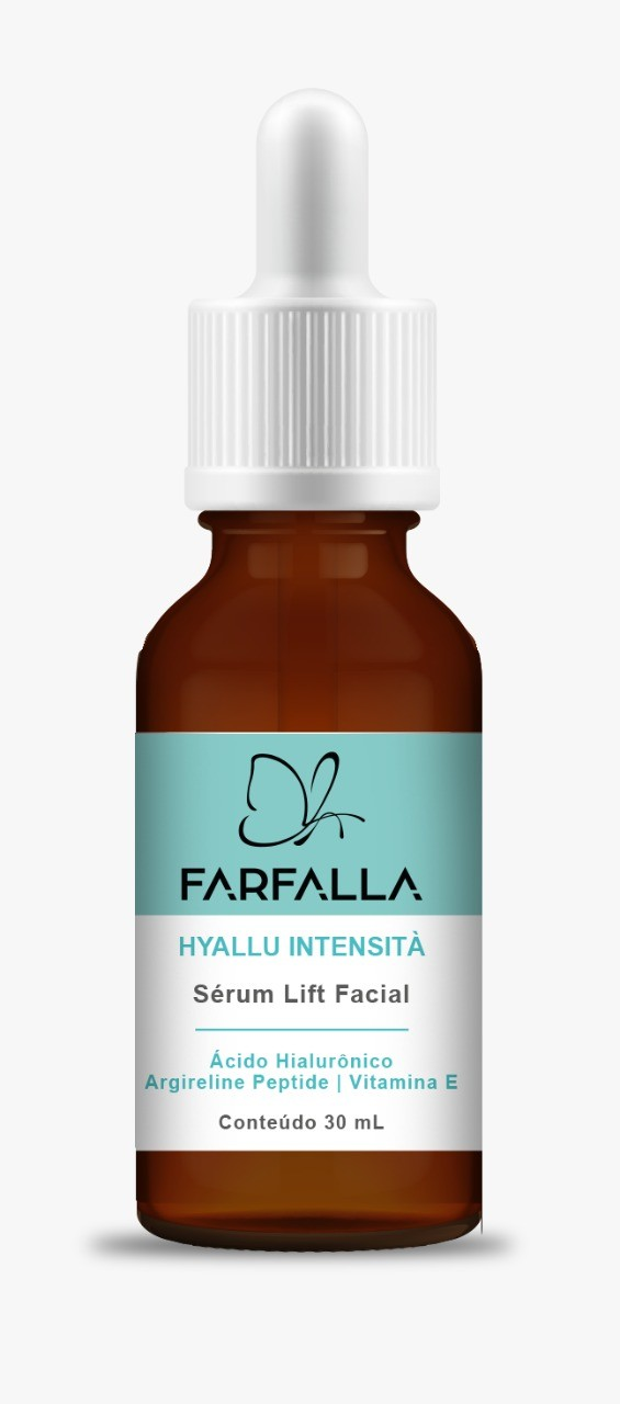 Foto 1 - FARFALLA HYALLU INTENSITÀ   SÉRUM LIFT FACIAL 30mL + Ácido Hialurônico + Argireline Peptide + Vitamina E