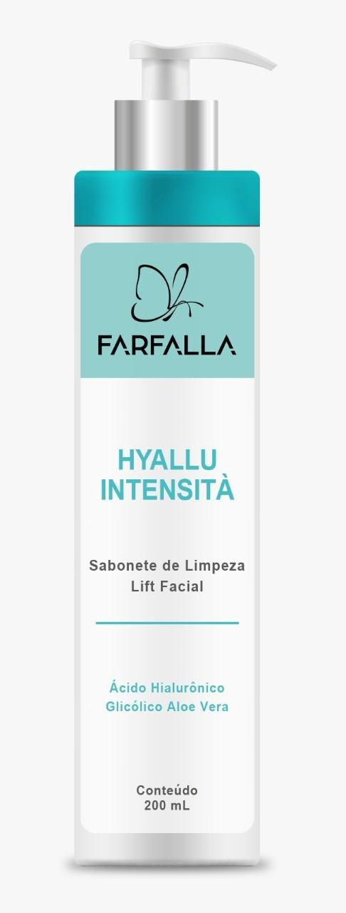 Foto 1 - FARFALLA HYALLU INTENSITÀ | SABONETE DE LIMPEZA LIFT FACIAL 200mL + Ácido Hialurônico + Glicólico Aloe Vera + Algas Marinhas