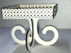 Foto6 - Bandeja Espelhada Luxo com Perolas