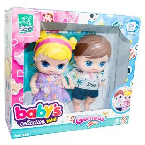 Foto1 - Boneca Babys Collection 18cm Mini Gêmeos