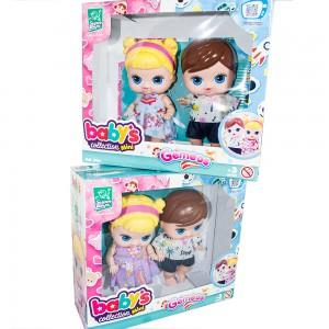 Foto2 - Boneca Babys Collection 18cm Mini Gêmeos