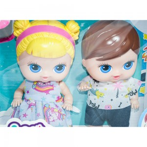 Foto4 - Boneca Babys Collection 18cm Mini Gêmeos