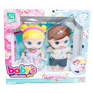 Foto5 - Boneca Babys Collection 18cm Mini Gêmeos