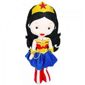 Foto1 - Boneca Mulher Maravilha Em Feltro 35cm