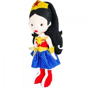 Foto2 - Boneca Mulher Maravilha Em Feltro 35cm