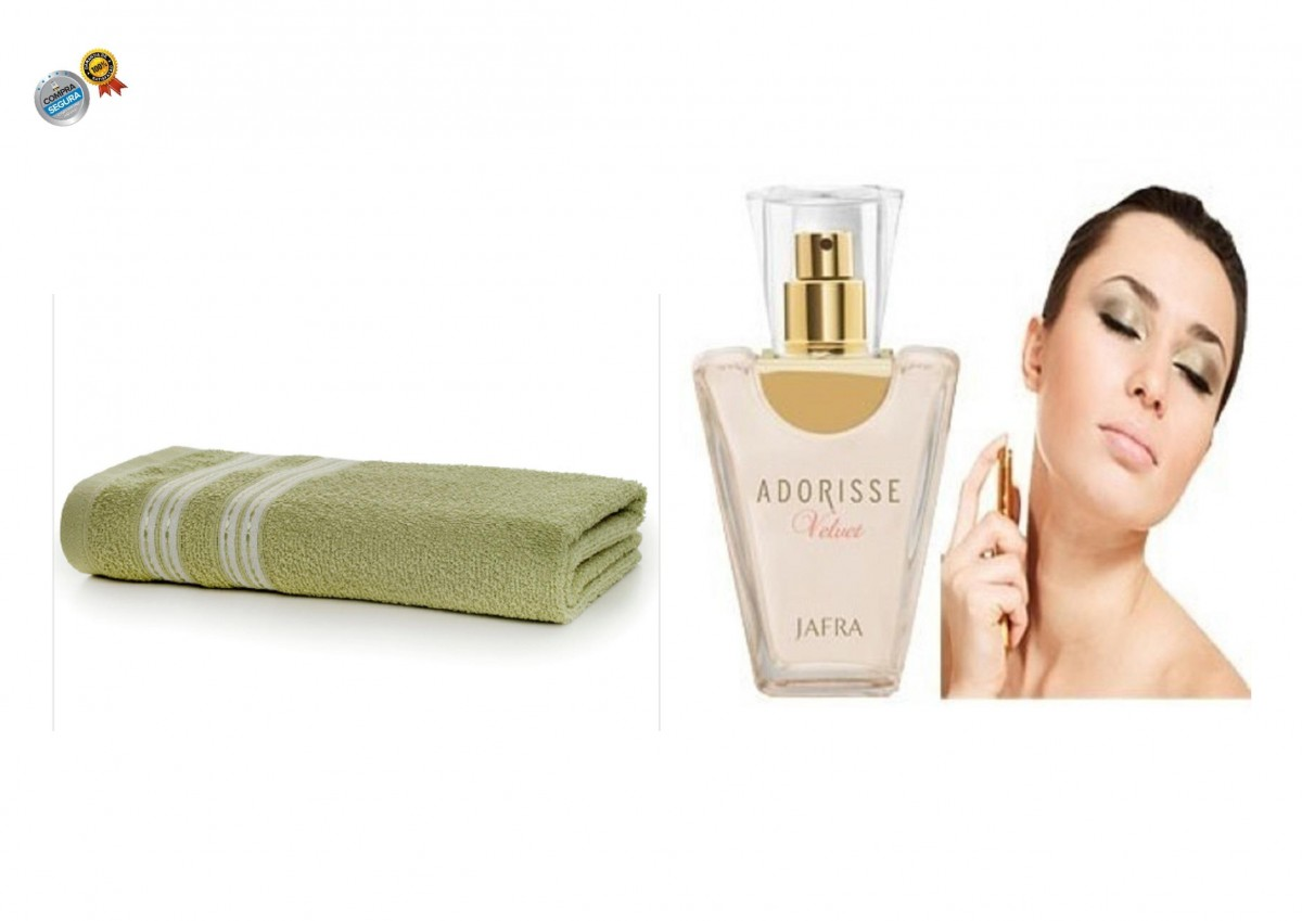 Foto 1 - Perfume Importado Adorisse Velvet Feminino + Toalha de Banho Santista Verde 100% Algodão