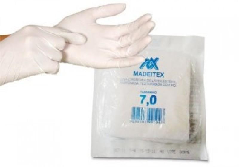 Foto 1 - Luva cirurgica esteril madeitex