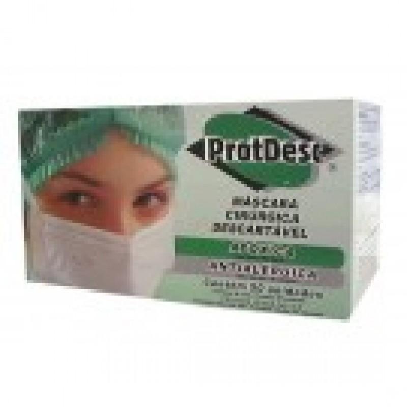 Foto 1 - Mascara descartavel c/50 protdesc azul c/elastico