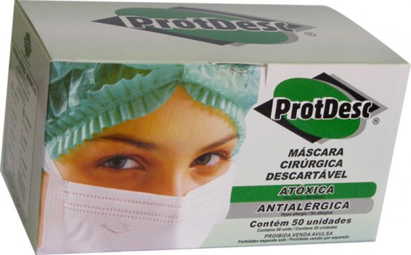 Foto3 - Mascara descartavel c/50 protdesc branca c/elastico
