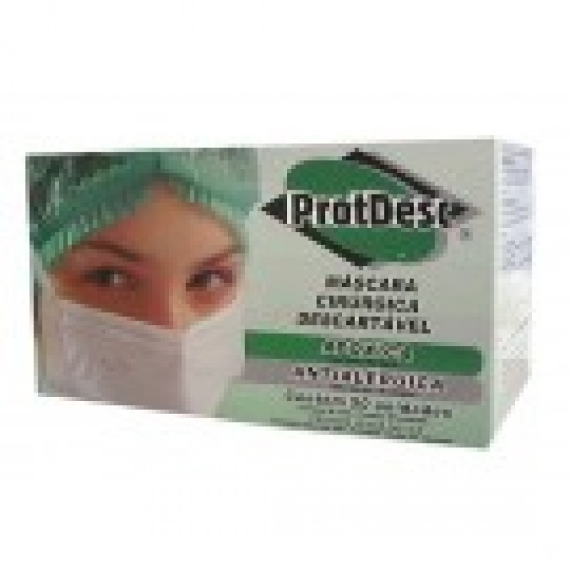 Foto 1 - Mascara descartavel c/50 protdesc rosa c/elastico