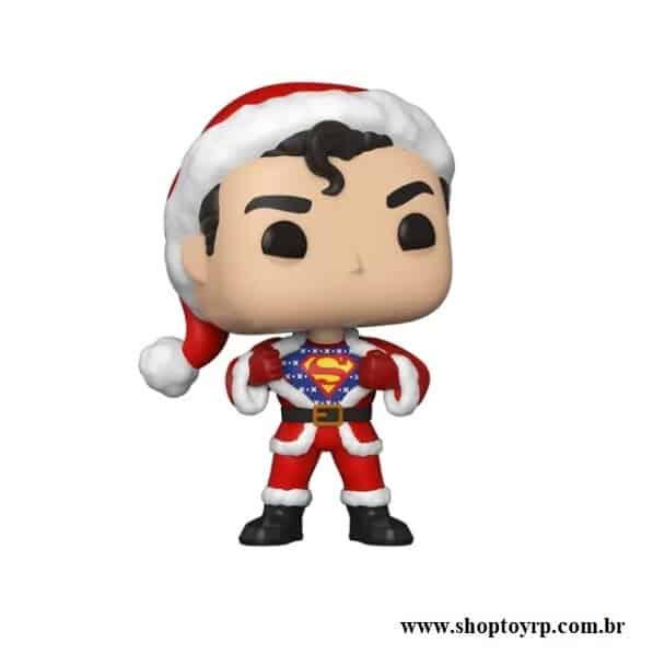 Foto 1 - Boneco Funko Pop Dc Heroes Superman 353 Natal Super Homem