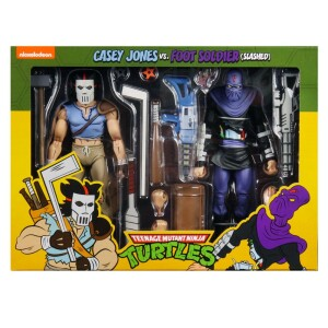 Foto1 - Casey Jones Vs. Foot Soldier Cartoon Tmnt 7´´ Scale Neca