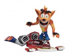 """Foto6 - Crash Bandicoot - Figura de ação em escala de 7 """"- Deluxe Crash com placa a jato"""