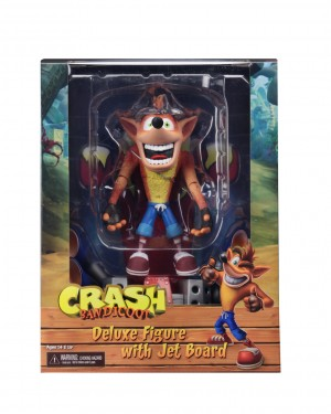 """Foto7 - Crash Bandicoot - Figura de ação em escala de 7 """"- Deluxe Crash com placa a jato"""