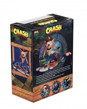 """Foto8 - Crash Bandicoot - Figura de ação em escala de 7 """"- Deluxe Crash com placa a jato"""