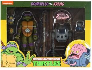 Foto1 - Donatello Vs. Krang Cartoon 2 Pack Tmnt 7´´ Scale Neca