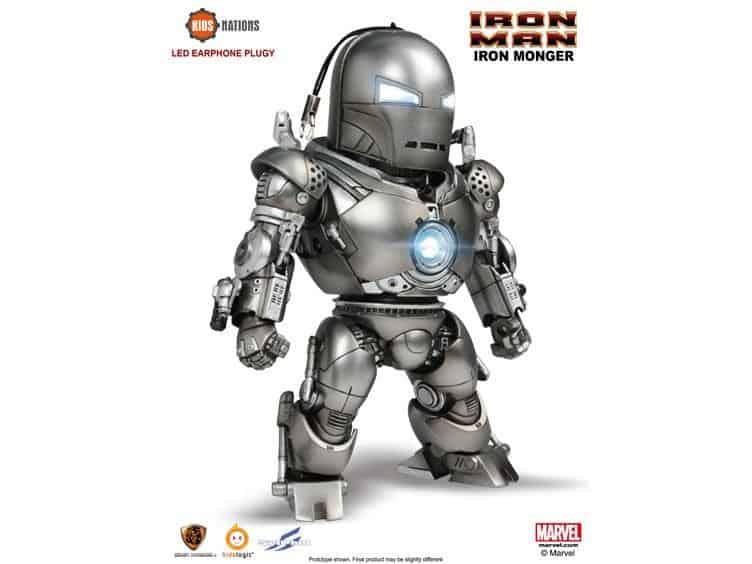 Foto 1 - Iron Man Kids Nations DX03 Iron Monger LED fone de ouvido plugy evento exclusivo