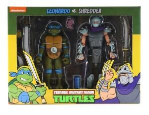 Foto1 - Leonardo Vs. Demolidor Cartoon 2 Pack Tmnt 7´´ Scale Neca