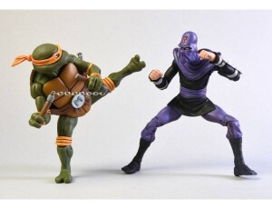 Foto3 - Michelangelo Vs. Foot Soldier Cartoon 2 Pack Tmnt 7´´ Neca