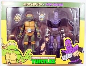Foto1 - Michelangelo Vs. Foot Soldier Cartoon 2 Pack Tmnt 7´´ Neca