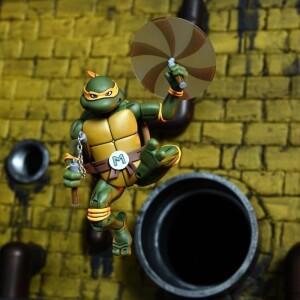 Foto2 - Michelangelo Vs. Foot Soldier Cartoon 2 Pack Tmnt 7´´ Neca