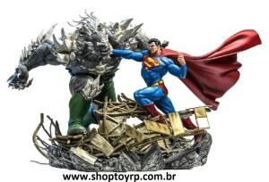 Superman Vs Doomsday - Dc Comics - Iron Studios