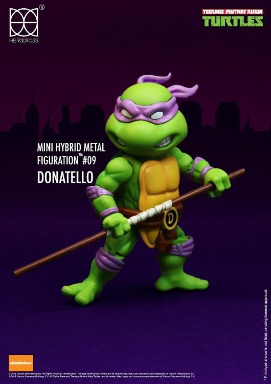 Foto 1 - Tartarugas Ninja Figuras De Metal Híbrido 4 Mini-figuras