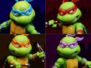Foto5 - Tartarugas Ninja Figuras De Metal Híbrido 4 Mini-figuras