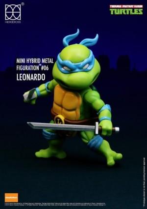 Foto2 - Tartarugas Ninja Figuras De Metal Híbrido 4 Mini-figuras