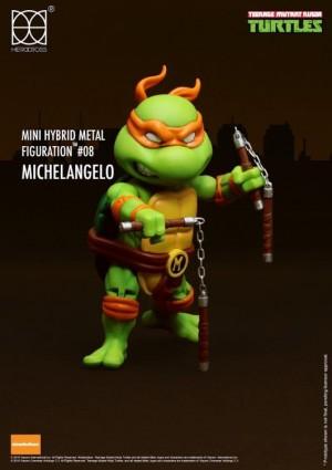 Foto4 - Tartarugas Ninja Figuras De Metal Híbrido 4 Mini-figuras