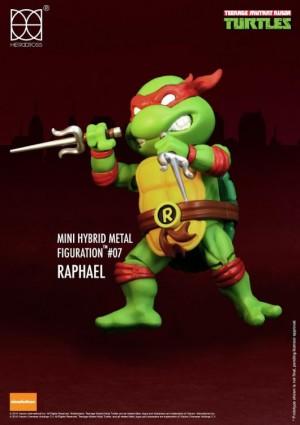 Foto3 - Tartarugas Ninja Figuras De Metal Híbrido 4 Mini-figuras