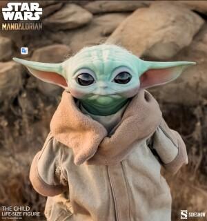 The Child Baby Yoda Figura em tamanho real da Sideshow Collectibles