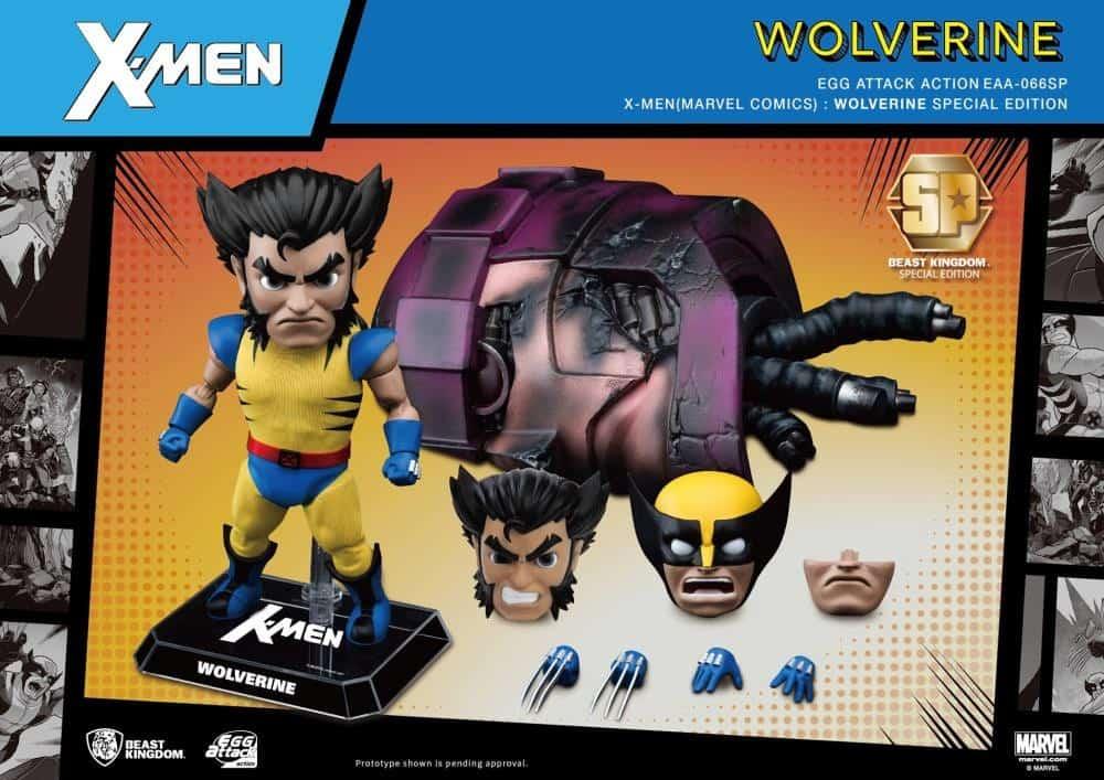 Foto 1 - X-Men Egg Attack Ação EAA-66SP Wolverine (Edição Especial) PX Previews Exclusive